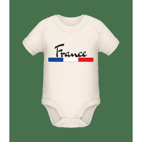 Fußball Frankreich - Baby Bio Strampler