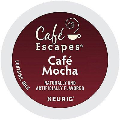 72 Ct Café Escapes Café Mocha 72-Count (3 Boxes Of 24) K-Cup® Pods.