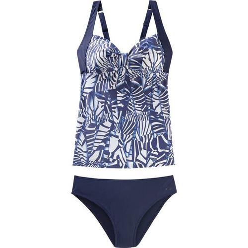 etirel Damen Tankini Fabienne, Größe 38C in Blau/Weiß