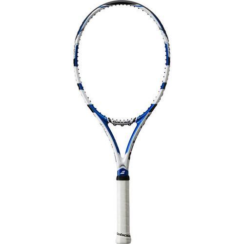 BABOLAT Herren Tennisschläger Tennisschläger Drive Lite bespannt, Größe 1 in Weiß-Blau-Schwarz