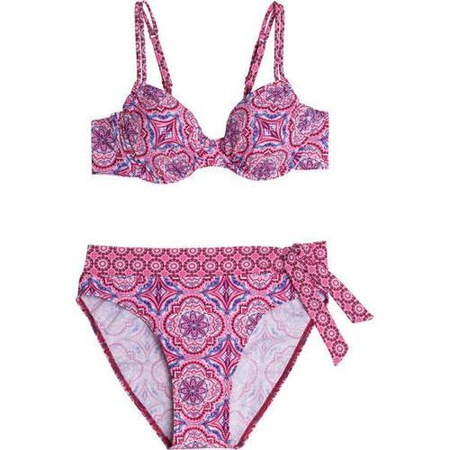 FIREFLY Damen Bikini Tanja, Größe 42B in Pink/Rot/Weiß