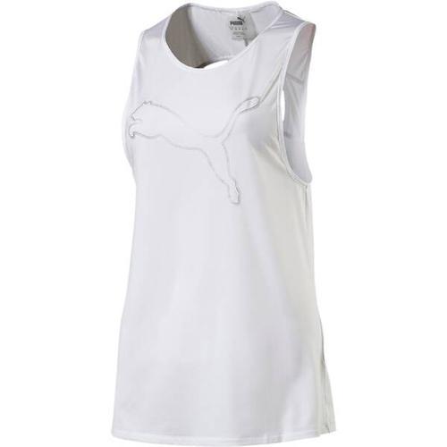 PUMA Damen Trainingstank Oceanaire Logo, Größe L in PUMA WHITE HEATHER