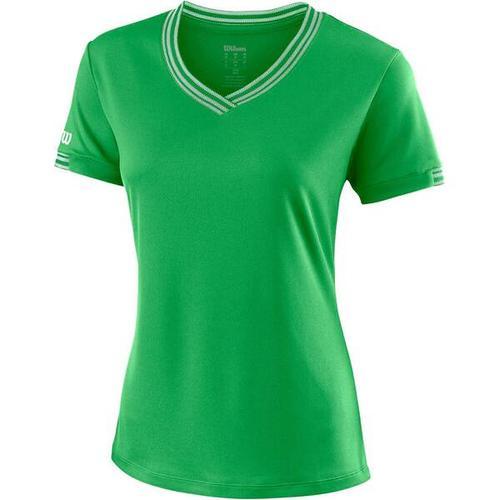 """""""WILSON Damen Tennisshirt \""""Team V-Neck\"""""""" Kurzarm"""""""", Größe S in ANDEAN TOUCAN"""""""