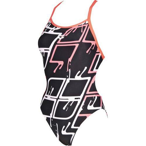 ARENA Damen Wettkampf Badeanzug Blare Lining, Größe 34 in BLACK-SHINY PINK