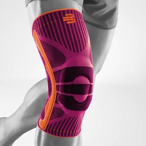 BAUERFEIND Kniebandage, Bandage Knie Sports Knee Support, Größe L in Pink