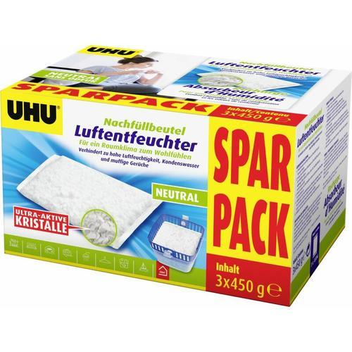 Luftentfeuchter Nachfüllbeutel Sparpack, 3 x 450 g - UHU