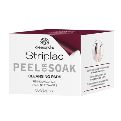 Striplac Peel or Soak Pads nettoyants ongles 50 Pcs Cotons Nettoyants pour ongles naturels et Top Coat Striplac Peel or Soak