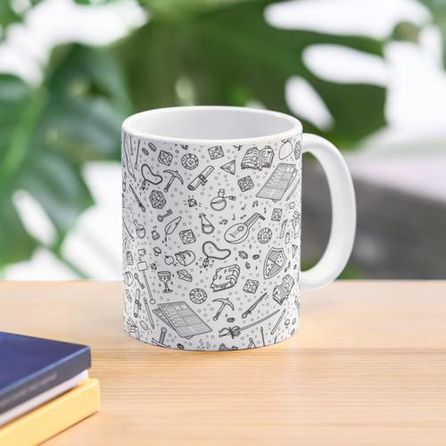 Tabletop RPG Pattern - Black Mug