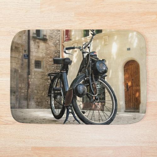 Fahrrad mit Hilfsmotor Solex Badematte