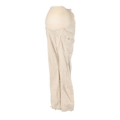 Motherhood Cargo Pants - Elastic: Tan Bottoms - Size Small Maternity