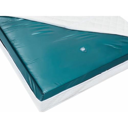 Wasserbettmatratze Blau Vinyl 140 x 200 cm Mono System Voll beruhigt Soft Side ein Wasserkern