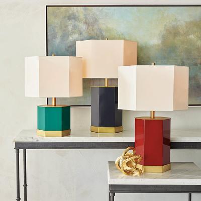 Lexa Table Lamp - Teal, Small - ...