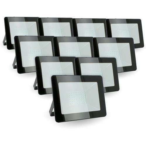 Lot von 10 LED-Scheinwerfern 30W IP65 im Freien | Farbtemperatur: Kühles Weiß 6400K
