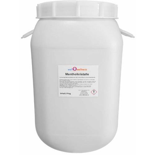 Well2wellness - Sauna Mentholkristalle 25 kg Fass