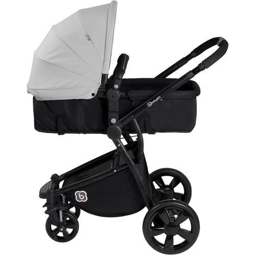 BabyGo Kombi-Kinderwagen Spring, grey, 15 kg grau Kinder Kombikinderwagen Kinderwagen Buggies