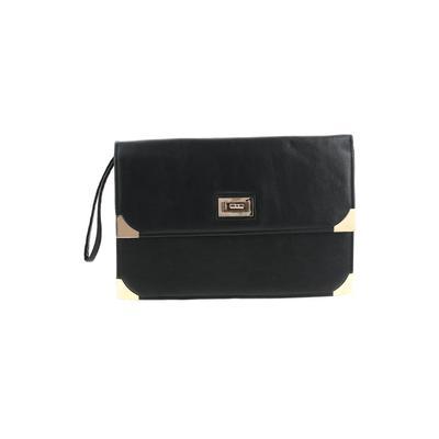 Atmosphere Clutch: Black Solid Bags