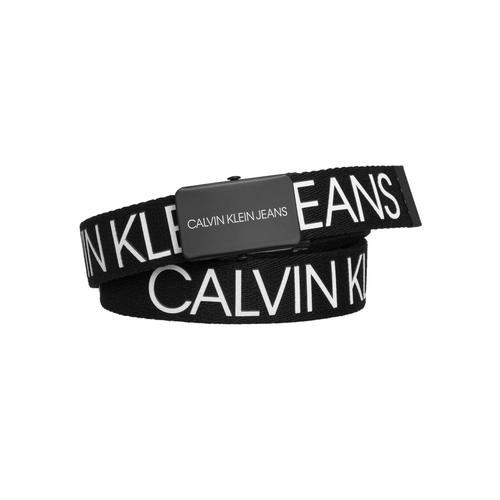 Calvin Klein Jeans Koppelgürtel CANVAS LOGO BELT schwarz Baby Gürtel Mädchen Accessoires
