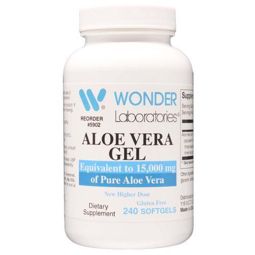 Aloe Vera Gel | Equivalent to 15000 mg of Pure Aloe Vera (240) - Wonder Labs