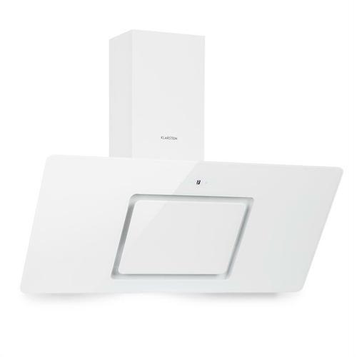 Sofia 90 Dunstabzugshaube kopffrei 300 m³/h Touch-Control Glasfront weiß
