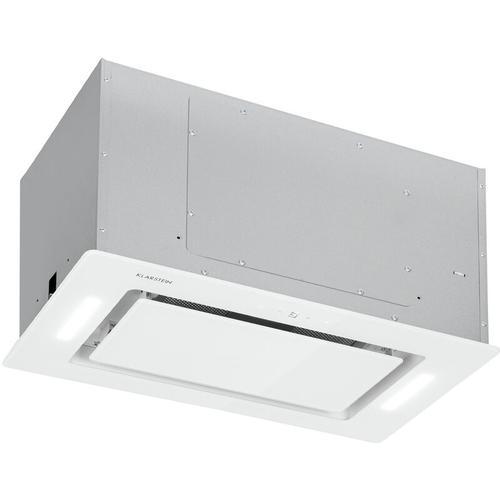 Klarstein - Hektor Eco Dunstabzugshaube Lüfterbaustein 52 cm 566 m³/h Touch Glas weiß