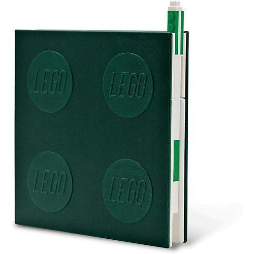 Notizheft LEGO, verschließbar, inkl. Gelstift, grün