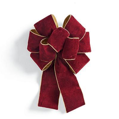 Set of 4 Decorative Bows - Burgu...