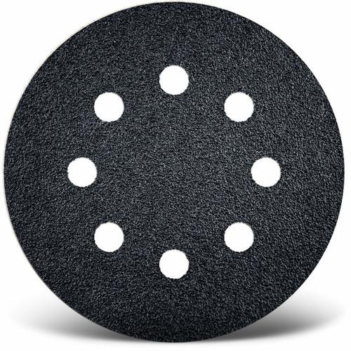 50 MENZER Klett-Schleifscheiben f. Exzenterschleifer, Ø 125 mm / 8-Loch / K180 / Siliciumcarbid