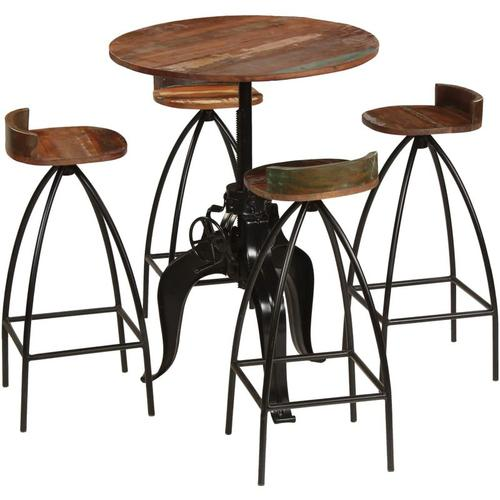 Bar-Set 5-tlg. Recyclingholz Massiv VD11272 - Hommoo