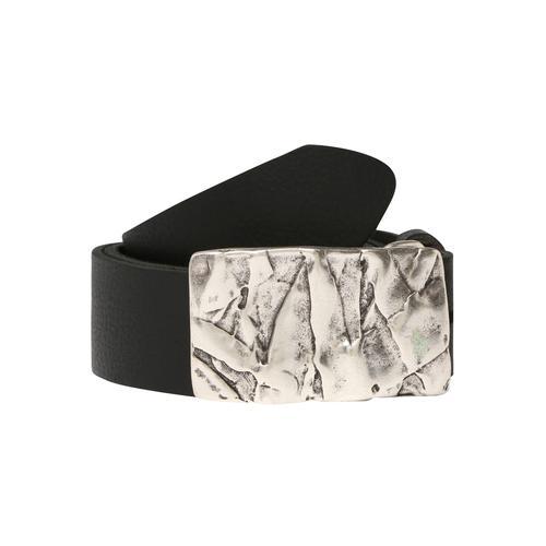 RETTUNGSRING by showroom 019° Koppelgürtel, Edel verarbeitete Metall-Schließe im Vintage-Look schwarz Damen Ledergürtel Gürtel Accessoires Koppelgürtel