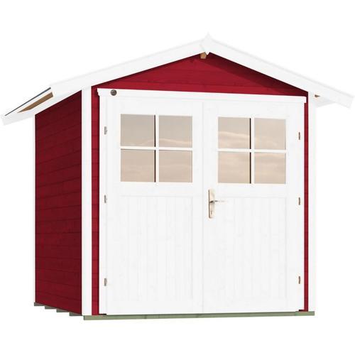weka Gerätehaus 224 schwedenrot Geräteschuppen, 235x239 cm