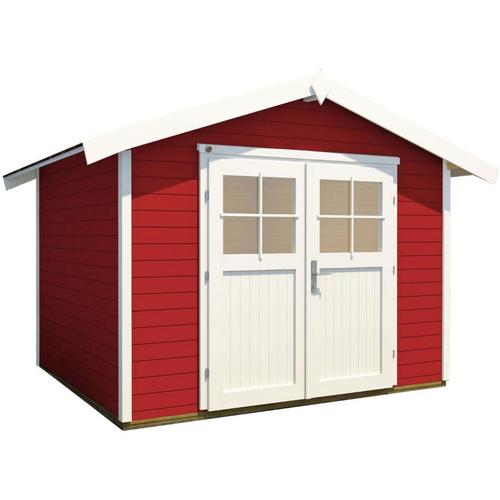 weka Gerätehaus 122 schwedenrot Geräteschuppen, 300x295 cm