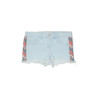 Jolt Denim Shorts: Blue Stripes ...