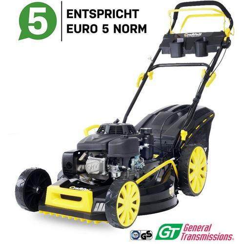 Benzin Rasenmäher 5,2KW 7PS Selbstantrieb Benzinmäher 224cc Euro5 Markengetriebe