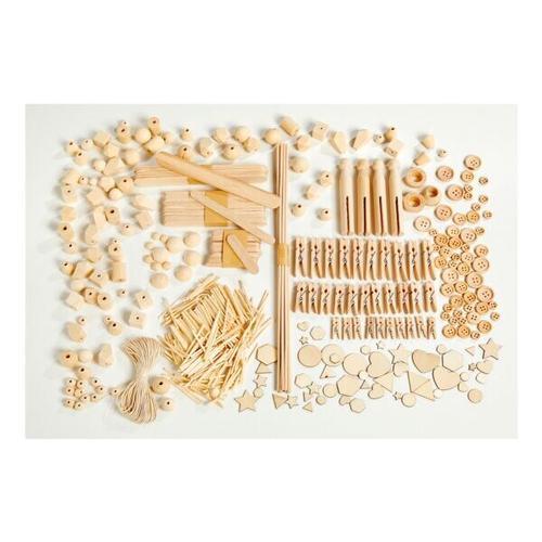 590-tlg. Kreativ-Box »HOLZ MIX«, folia