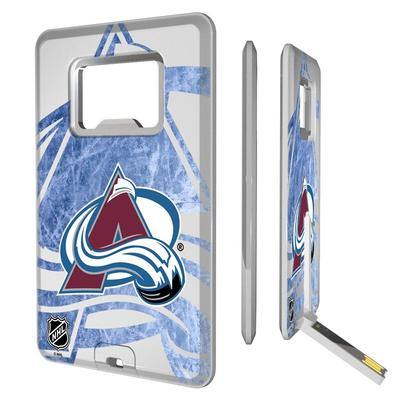 Colorado Avalanche Credit Card USB Drive with Bottle Opener