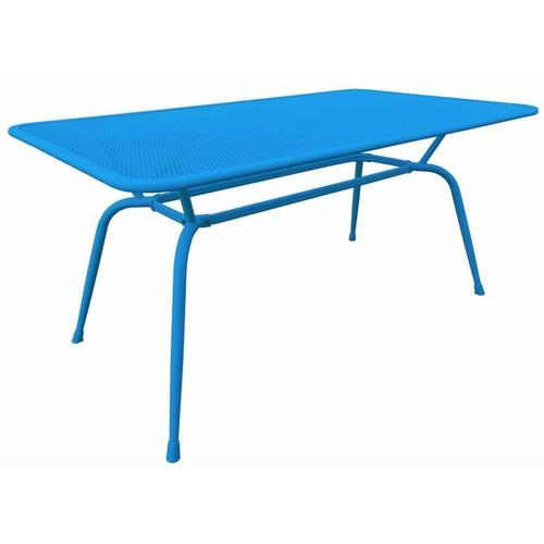 Tisch Conello 160x90x74cm blau Streckmetalltisch Gartentisch Tisch Möbel - MWH