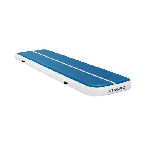 Gymrex Aufblasbare Turnmatte - Airtrack - 400 x 100 x 20 cm - 200 kg - blau/weiß GR-ATM5