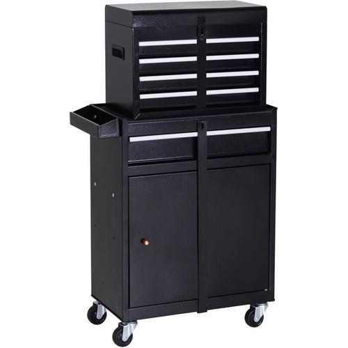 ® Werkstattwagen Werkzeugschrank Werkzeugkasten mit 5 Schubladen 360°-Rollen Metall 52,5 x 28 x