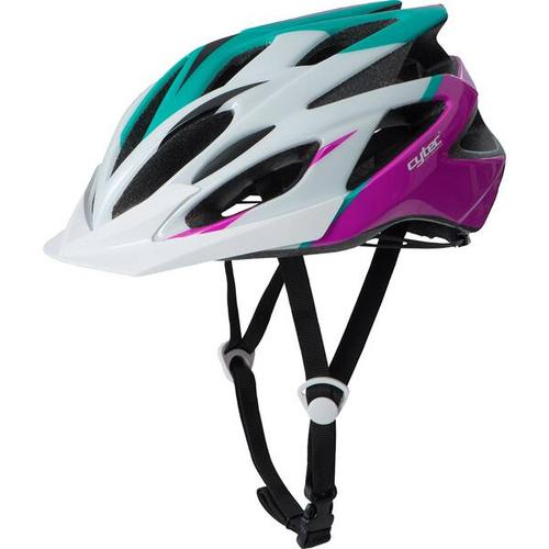 CYTEC Fahrrad-Helm Genesista 2.8, Größe 52 in Weiß/Lila/Türkis
