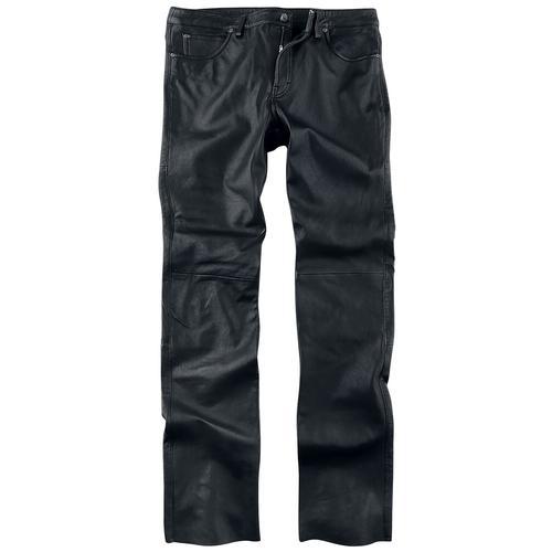 Gipsy GBJeans LNTV Herren-Lederhose - schwarz