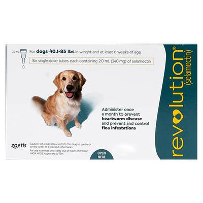 Revolution for Large Dogs 40.1-85 lbs 6 Doses Green Pack
