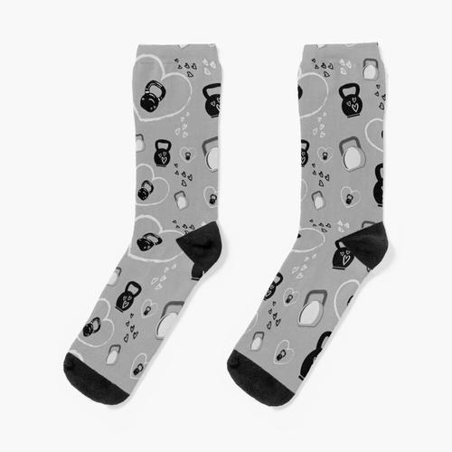 Kettlebells Muster für Kettlebell Lifter Socken