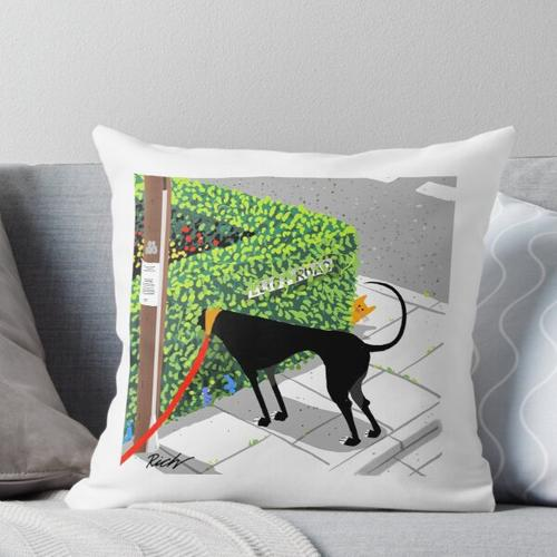 Checking for Cats Throw Pillow