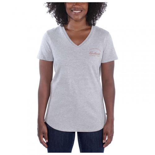 Carhartt - Women's Lockhart Graphic V-Neck - T-Shirt Gr L grau