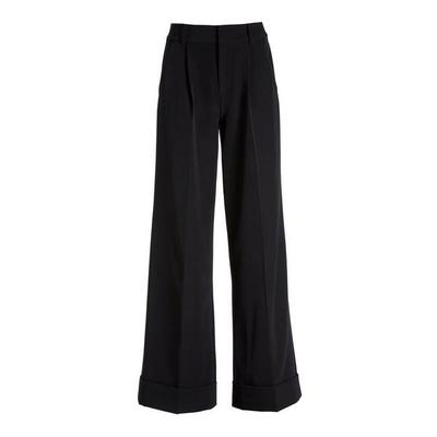 Boston Proper - High-Waist Wide-Leg Crepe Pant - Black - 04