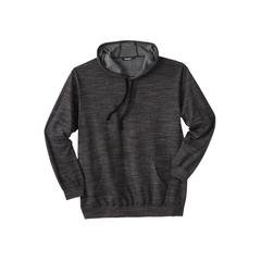 Men's Big & Tall Fleece Pullover Hoodie by KingSize in Black White Heather (Size XL)