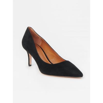 J.McLaughlin Women's Delia Suede Kitten Heels Black, Size 6