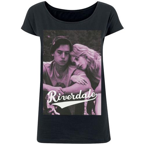 Riverdale Bughead - Betty & Jughead Damen-T-Shirt - schwarz - Offizieller & Lizenzierter Fanartikel