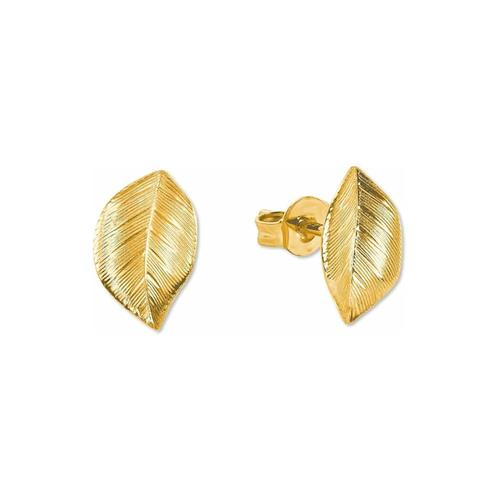 Ohrstecker für Damen, Gold 375, Blatt amor Gold