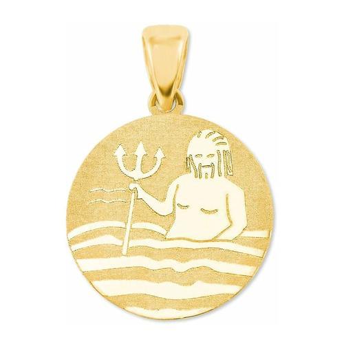 Anhänger Unisex, Gold 375, Wassermann amor Gold